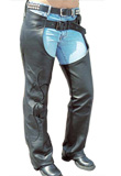 Classic Snap Bottom Leather Chap for Men