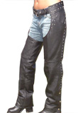 Studs Decorated Leather Chaps | Leather Chaps Online