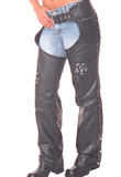 Dashing zip flap Leather Chap | Mens Leather Chaps