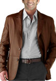Mens Leather Blazers | Office Wear Leather Blazer