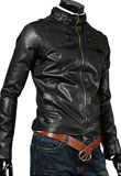 Slim Fit Leather Jacket for Men