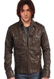 Crushed Leather Jacket for Men