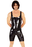 Wide Strap PVC Leather Jumpsuit|Sports jumpsuit