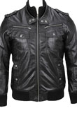 Leather Bomber Jacket for New Year Party