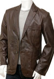 New Year Leather Blazer | Mens Blazers for New Year Party