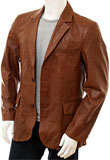Classic New Year Leather Blazer | Mens Leather Blazers