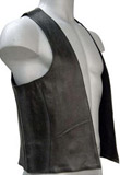 Sleeveless Leather Vest for Mens