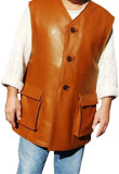 Astounding Leather Vest Coat | Mens Spring Collection 2012