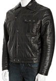 Spring Leather Bomber Jacket | Mens Spring Jacket