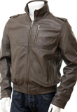 Front Zipper Thanksgiving Leather Jacket | Gifts for Thanksgiving