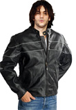 Rugged Zippered Leather Jacket for New Year Party