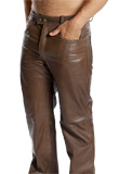 Rugged Leather Pants for Mens