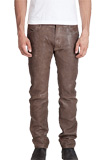 Tight Fitted Rugged Leather Pants for Mens