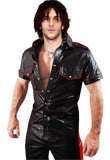 Front Flap Pocket Leather Shirt | Mens Leather Shirts