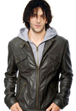 Rugged Front Zipper Leather Jacket for Youth Day 2010