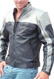 Double Tone Leather Biker Jackets