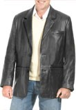 Buy Cheap Soft Mens Leather Blazer