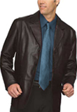 3 Button Mens Leather Blazer