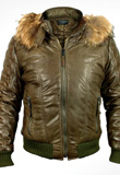 Polished Fur Leather Jackets for Men
