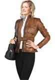 Belted Premium Leather Jacket