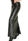Buy Online Impressive Long Leather Skirt