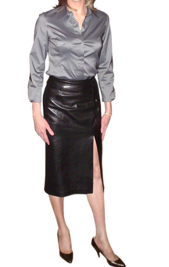 high slit leather skirt leather skirts