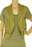 Attractive St Patricks Day Leather Vest for Womens
