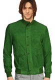 Green St Patricks Day Leather Jacket