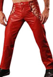 Criss Cross Strap Leather Pant | Valentine Day Special 