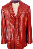 Exquisite Leather Coat With Notch Collar