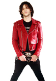 Purchase A Unique belted Valentines Day Leather Jacket
