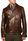 Shop Double Breasted Valentines Day Leather Jacket