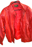 Crinkled Valentines Day Leather Jacket