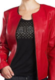 Chic Front Zipped Leather Jacket