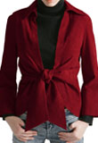 Flattering Suede Tie Up Jacket | Valentine Collection