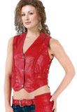 Valentines Day Leather Vest | Side Interlacing Leather Vest
