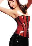 Strapless PVC Leather Top