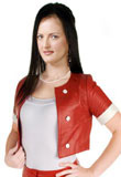 Short Valentines Day Leather Jacket