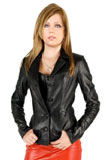 Fitted Valentines Day Leather Jacket