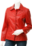 Red & Trendy Valentines Day Leather Jacket