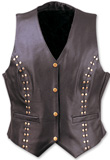 Nickel snaps leather vest