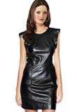 Mini Leather Christmas Dress | Christmas Party Leather Dress