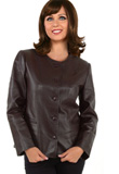 Dashing Flap Pocketed Leather Jacket