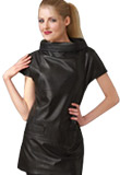 Short Sleeves Easter Leather Dress | Womens Wear