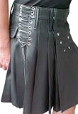 Spectacular Pleated Leather Skirt