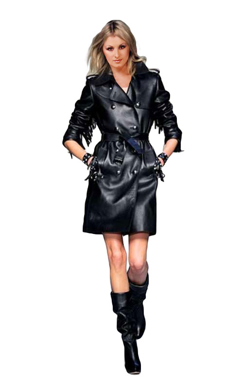 Celebrity Style Leather Dress Womens Leather Dress