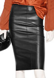 Chic Knee Length Leather Skirt for New Year Party