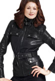 New Year Leather Jacket with Detachable Belt