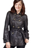 Stylish Front Buttoned Leather Jacket | New Year Leather Jackets for Women