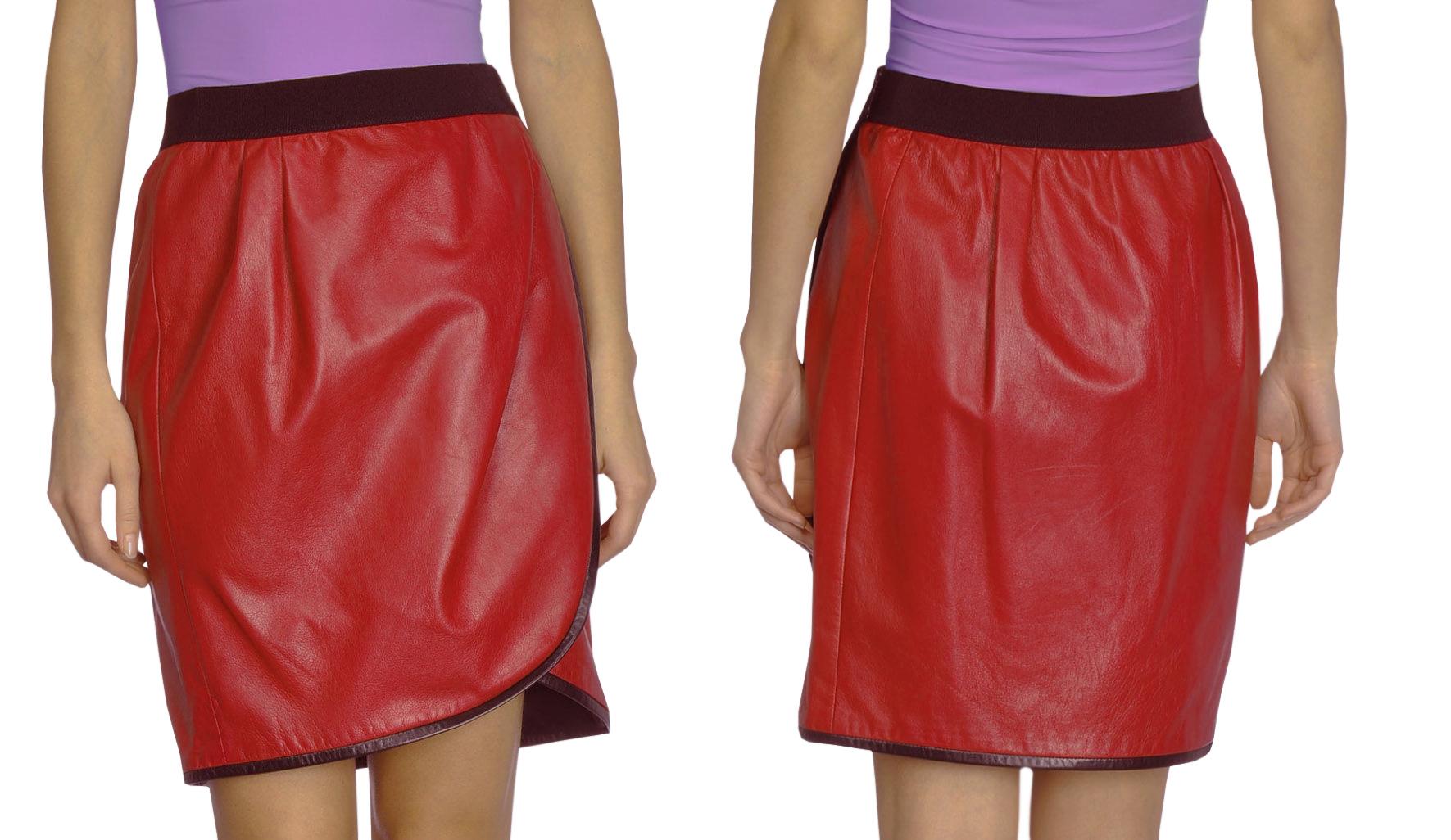 modern womens summer leather skirt